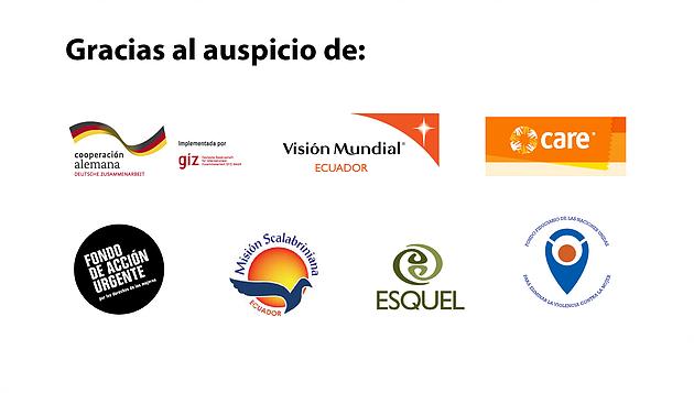 Coalición Nacional de Mujeres del Ecuador - Auspicios