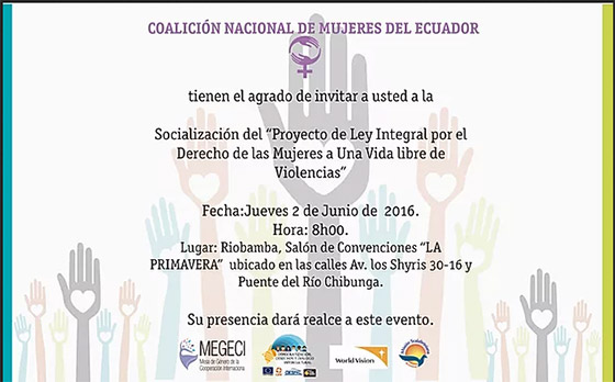 Socializacion del proyecto de ley integral por el Derecho de las Mujeres a Una Vida libre de Violencias